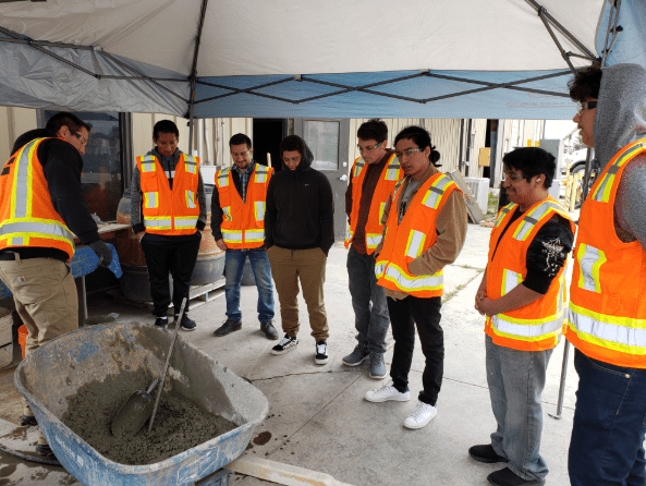 Folsom Ready Mix Hosts Tour for Students from Sacramento City College and Burbank High School