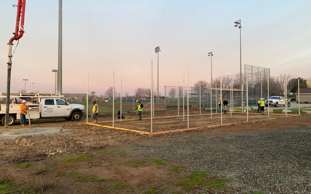 Folsom Ready Mix Concrete Donation for Rocklin Girls Fast Pitch Softball League