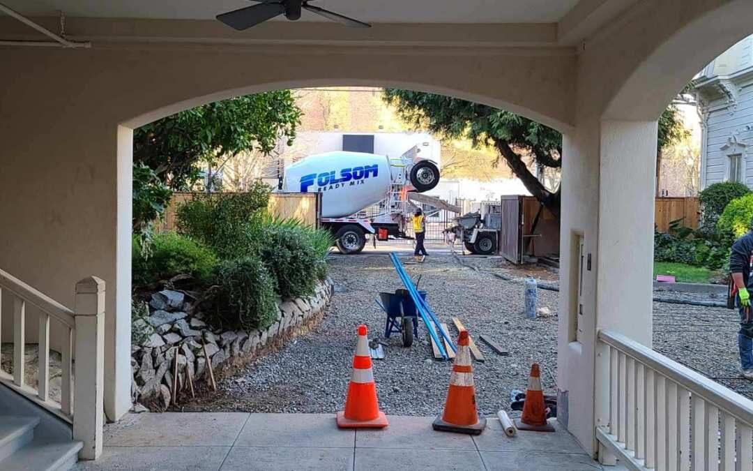 Folsom Ready Mix Concrete Pour for California Governor's Mansion Renovation
