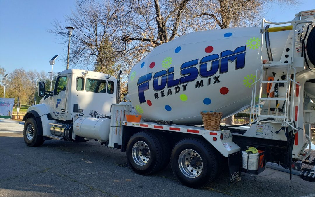 Folsom Ready Mix Concrete Truck in Cordova Rec & Park District's Decorating Contest